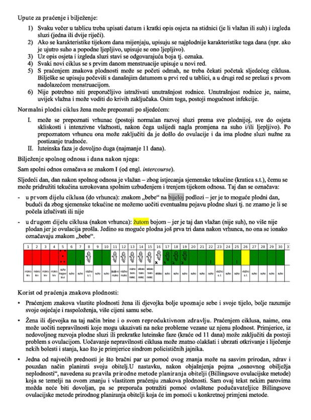 Upute za praćenje i bilježenje 1
