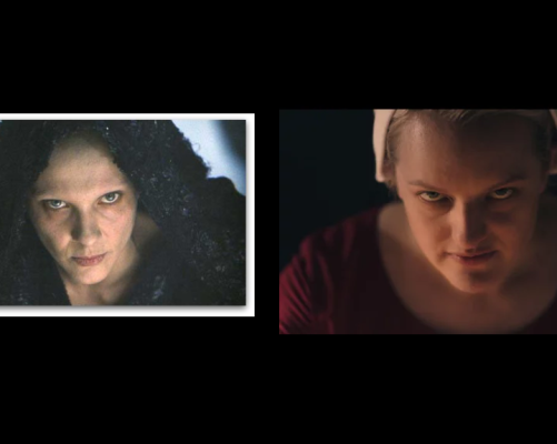 Desno: Sluškinjina priča, George Kraychyk - © 2018 Hulu, Lijevo: Pasija Sotona,